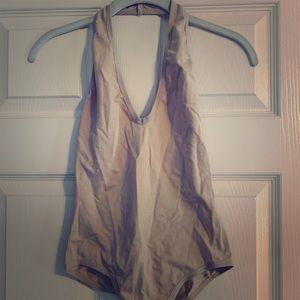 Halter top Bodysuit nude